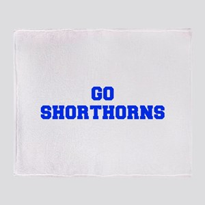 Shorthorns-Fre blue Throw Blanket