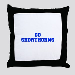 Shorthorns-Fre blue Throw Pillow