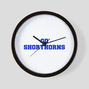 Shorthorns-Fre blue Wall Clock