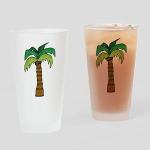 Lone Palm Drinking Glass