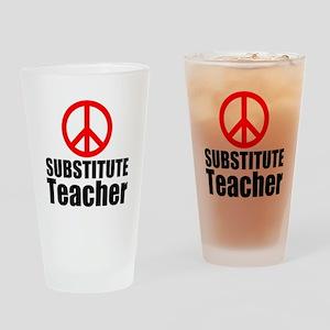 Substitute Teacher Drinking Glass