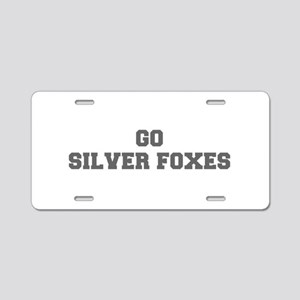SILVER FOXES-Fre gray Aluminum License Plate