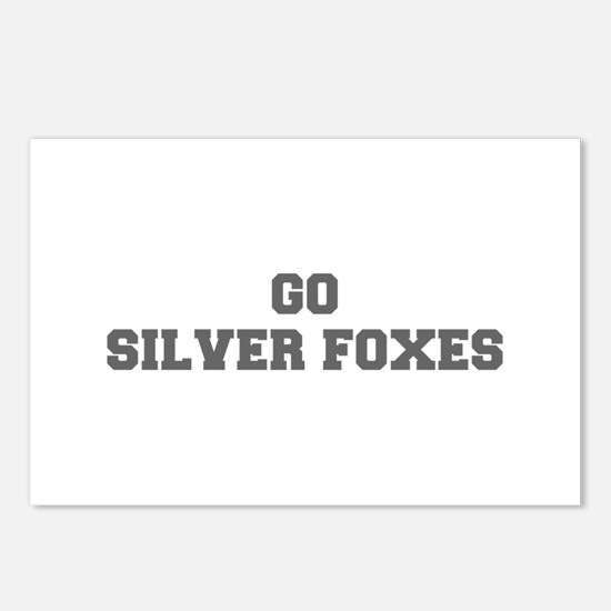 SILVER FOXES-Fre gray Postcards (Package of 8)