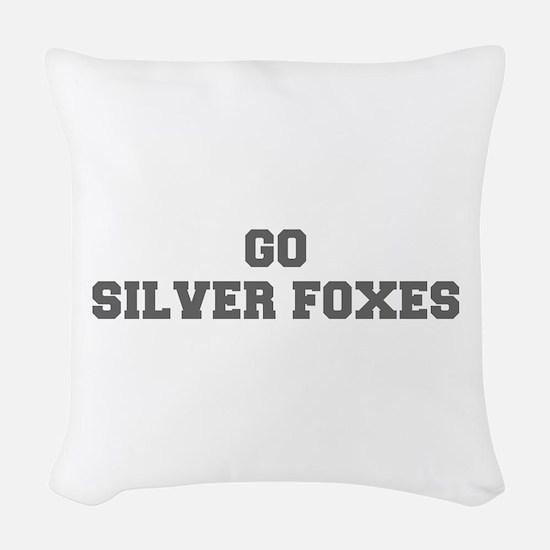 SILVER FOXES-Fre gray Woven Throw Pillow