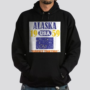 "ALASKA / USA 1959 STATEHOOD ""PERFECT Hoodie (dark)"