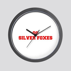 SILVER FOXES-Fre red Wall Clock