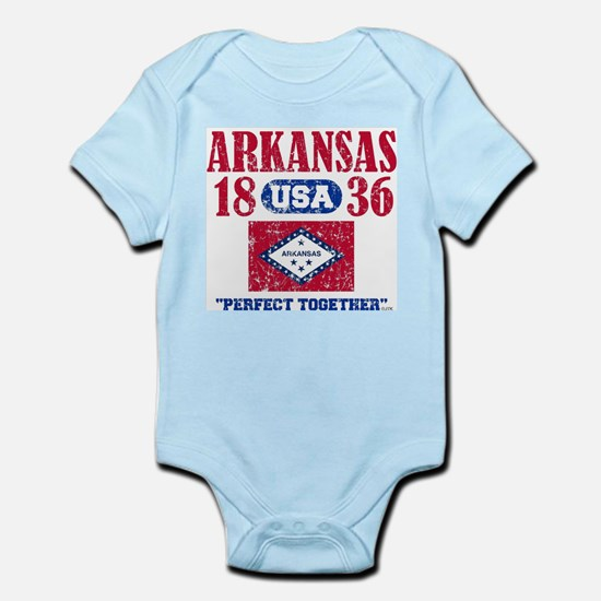 "ARKANSAS / USA 1836 STATEHOOD ""PERFECT T Body Suit"
