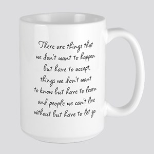 Things we did not want to happen Large Mug