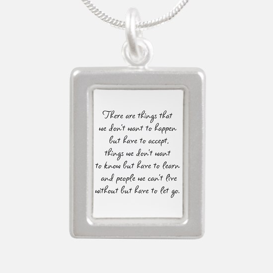 Things we did not want t Silver Portrait Necklace