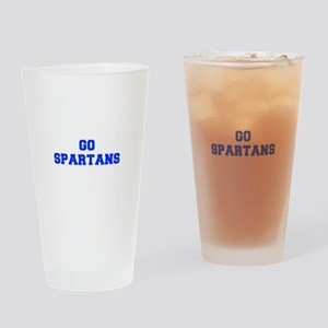 Spartans-Fre blue Drinking Glass