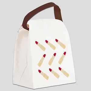Lipstick Love Canvas Lunch Bag