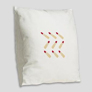 Lipstick Love Burlap Throw Pillow