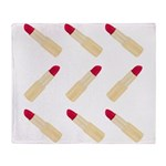 Lipstick Love Throw Blanket
