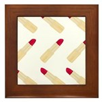 Lipstick Love Framed Tile