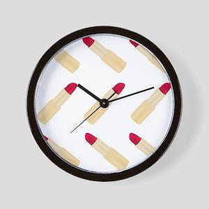 Lipstick Love Wall Clock