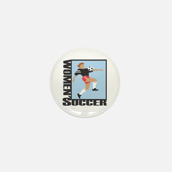 Women's Soccer Mini Button