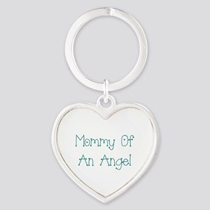 Mommy of an Angel Heart Keychain