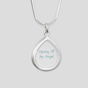 Mommy of an Angel Silver Teardrop Necklace