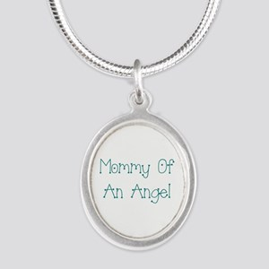 Mommy of an Angel Silver Oval Necklace