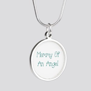 Mommy of an Angel Silver Round Necklace