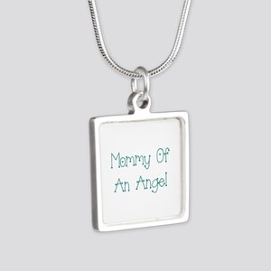 Mommy of an Angel Silver Square Necklace