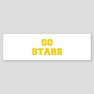 Stars-Fre yellow gold Bumper Sticker