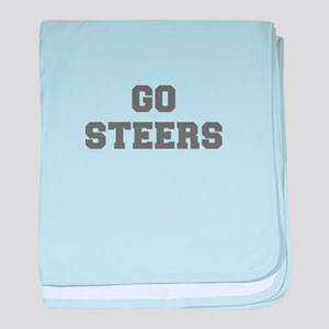 STEERS-Fre gray baby blanket