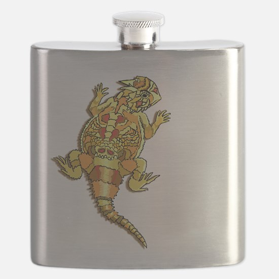 Horned Toad Flask