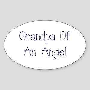 Grandpa of an Angel Sticker (Oval)