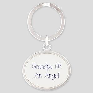 Grandpa of an Angel Oval Keychain