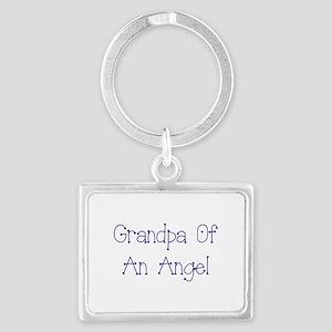 Grandpa of an Angel Landscape Keychain