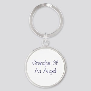 Grandpa of an Angel Round Keychain