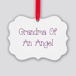 Grandma of an Angel Picture Ornament