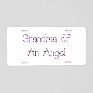 Grandma of an Angel Aluminum License Plate