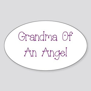 Grandma of an Angel Sticker (Oval)
