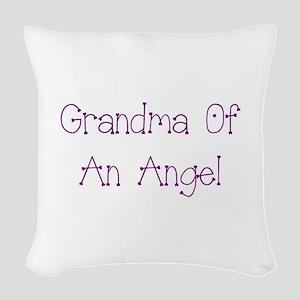 Grandma of an Angel Woven Throw Pillow