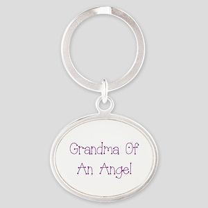 Grandma of an Angel Oval Keychain