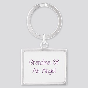 Grandma of an Angel Landscape Keychain