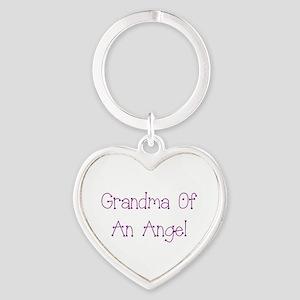 Grandma of an Angel Heart Keychain