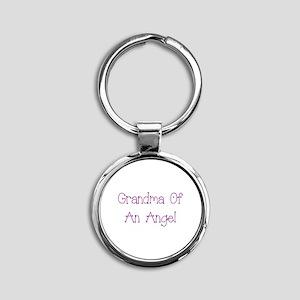 Grandma of an Angel Round Keychain