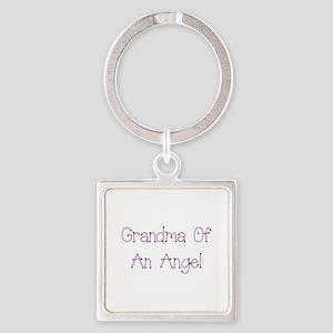 Grandma of an Angel Square Keychain