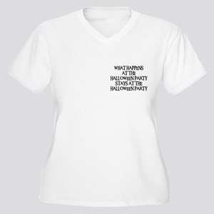 HALLOWEEN PARTY Women's Plus Size V-Neck T-Shirt