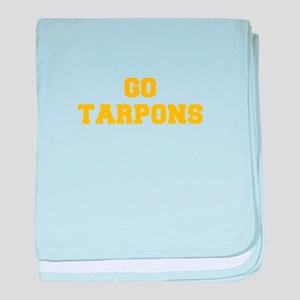 Tarpons-Fre yellow gold baby blanket