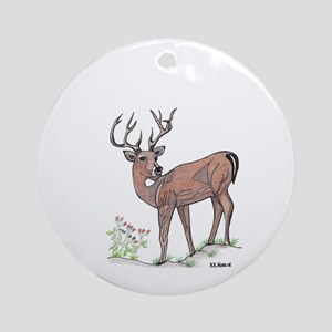 The Deer Ornament (Round)