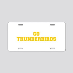 Thunderbirds-Fre yellow gold Aluminum License Plat