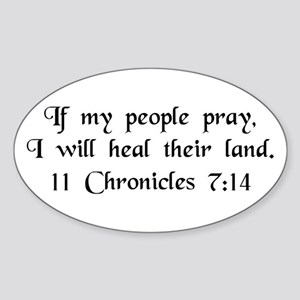 """If My People Pray"" Oval Sticker"