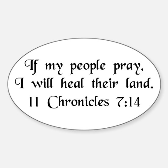 """""""If My People Pray"""" Oval Decal"""