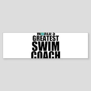 World's Greatest Swim Coach Bumper Sticker