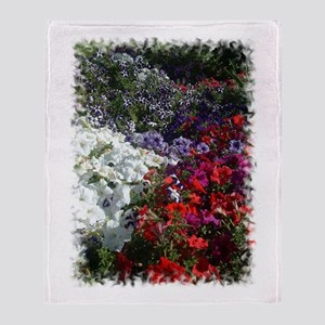 Petunias Throw Blanket