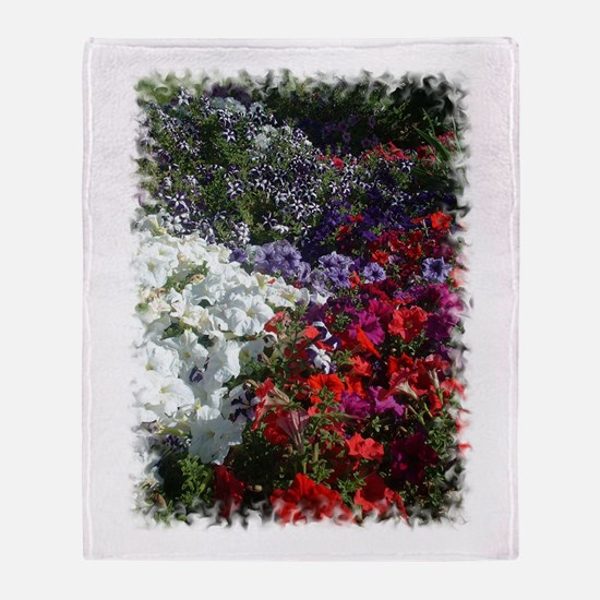 Petunias.jpg Throw Blanket